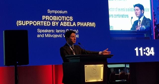 Dr Gianluca Ianiro Ianiro ha tenuto una conferenza al primo congresso europeo dei giovani gastroenterologi